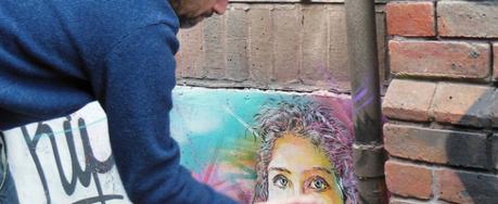 Street artist C215 in London