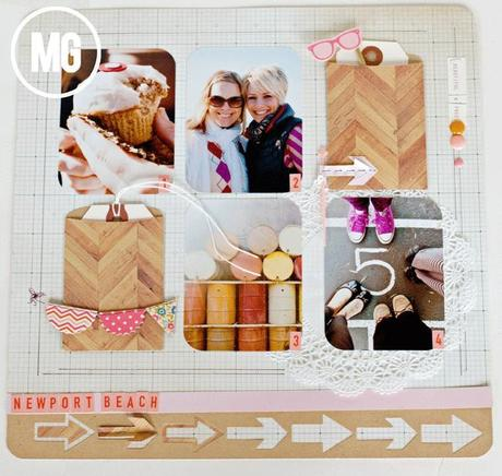 A fun layout with Lifestyle Crafts...or: how I can't get enough arrows...no really...I can't.