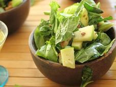 Pistachio Apple Salad with Gingery Lemon Poppy Seed Dressing