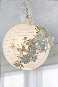 felt flowers diy lanterns pinterest 9 DIY Ways to Dress Up a Lantern   Fun & Festive!