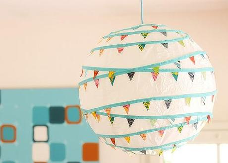 Pennant lamps 9 DIY Ways to Dress Up a Lantern   Fun & Festive!