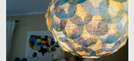map paper lantern 9 DIY Ways to Dress Up a Lantern   Fun & Festive!