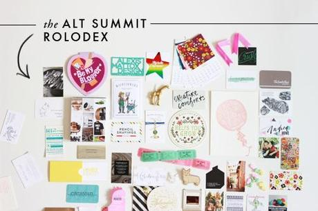 The Alt Summit rolodex and notes from the panel