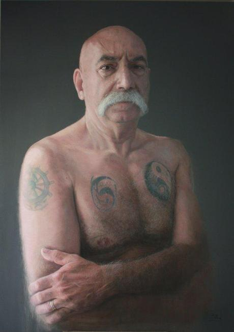 lobo-del-mar-sea-dog--belloso-drew-this-portrait-of-an-old-tattooed-sailor-in-2011-a-pastel-on-wood-piece-it-is-190-cm-by-135-cm