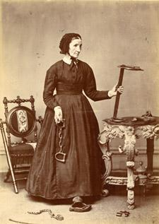 Laura Smith Haviland with Slave Irons ~ Quaker woman believed to have first Underground Railroad Station in Michigan
