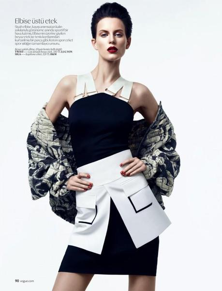 Ellinore Erichsen for Vogue Turkey February 2013 by Umit Savaci