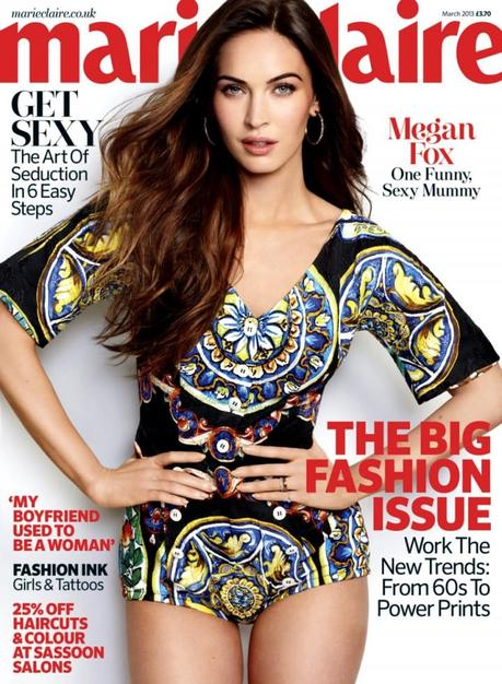 Cover- Megan Fox by Matt Jones for Marie Claire UK March 2013