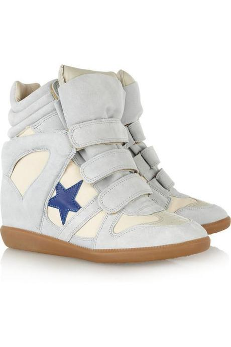 Isabel Marant Bayley suede and leather high-top sneakers ($640)