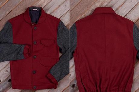 oliver spencer jacket red grey