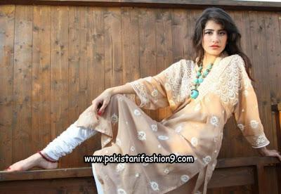 Syra Yousaf Glams Up Ahsna Khan Collection 2013