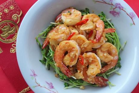 Prawns with Garlic 蒜酥虾