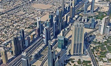 Panorama Picture From The Top Of The Burj Khalifa