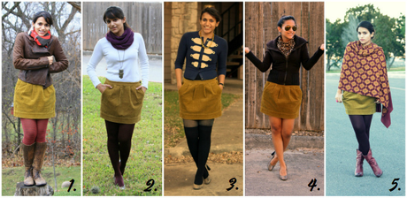Shopping Ban Link Up + Five Ways to Wear a Corduroy Skirt