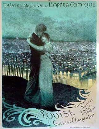 poster from the opera Louise