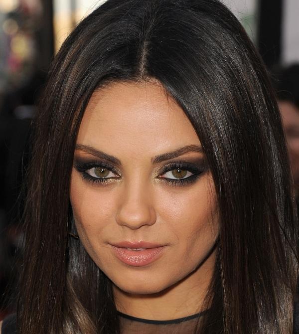 Mila - matte black, gold glitter, nude lip | Beauty ...