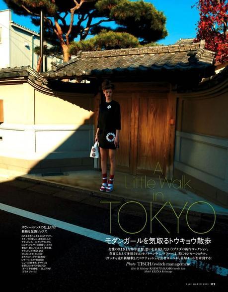 Elena Bartels by Tisch for Elle Japan March 2013
