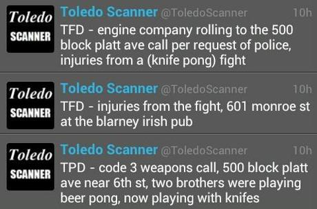 culby:  Last week, East Toledo held a meeting with some council people, complaining that they didn't feel like they were a part of the city.   Well, maybe it's because you never invite us over for knife pong.  Forget pin the tail on the donkey, Harry's 1st birthday party is going to feature knife pong!