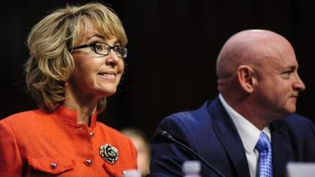 Fomer Congresswoman Gabby Giffords and her husband Mark Kelly