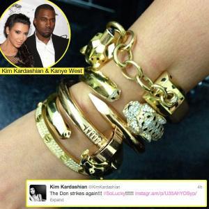 Kim K Cartier Bracelets