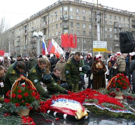 Volgograd, Russia: 2 February 2013: Memorial to the Battle of Stalingrad.