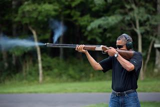 Obama Skeet Shooting at Camp David