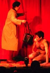 Vivienne Soan and Adam Larter last night