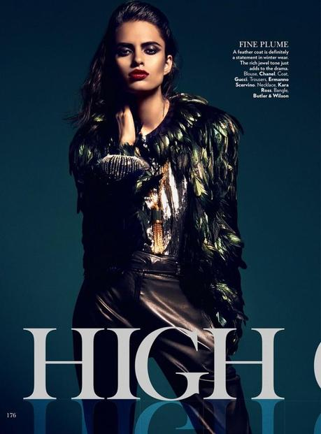 Lakshmi Menon for Vogue India's February 2013 by Kevin Sinclair2