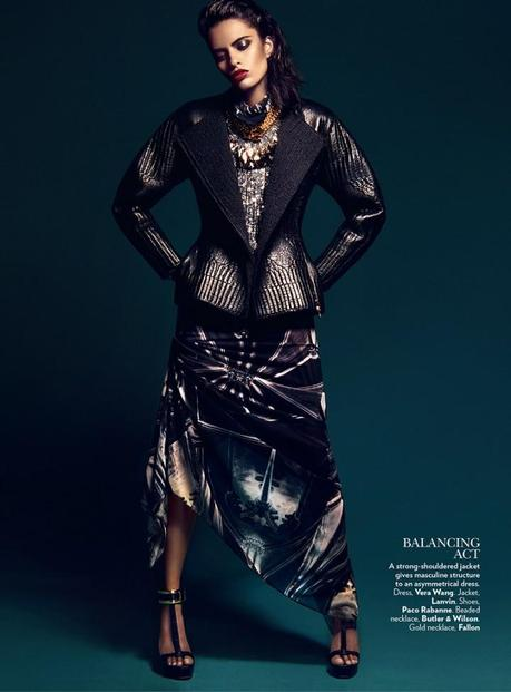 Lakshmi Menon for Vogue India's February 2013 by Kevin Sinclair 5