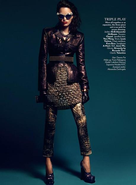 Lakshmi Menon for Vogue India's February 2013 by Kevin Sinclair 6