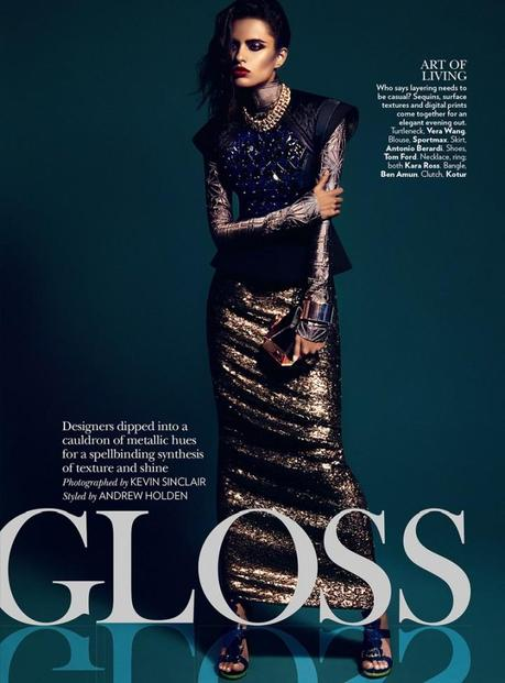 Lakshmi Menon for Vogue India's February 2013 by Kevin Sinclair3