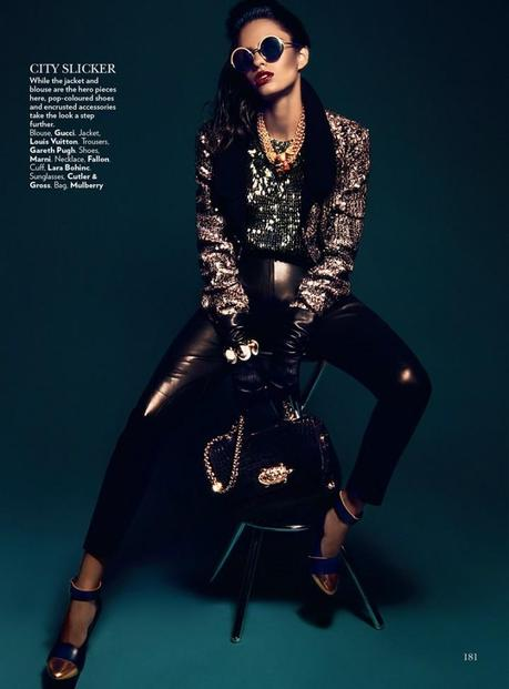 Lakshmi Menon for Vogue India's February 2013 by Kevin Sinclair