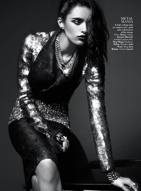 Lakshmi Menon for Vogue India's February 2013 by Kevin Sinclair4