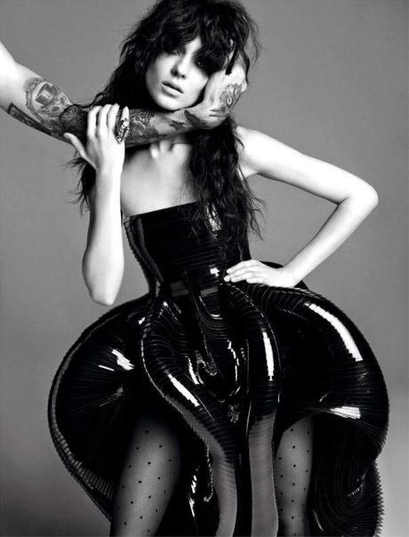 Kati Nescher by Inez & Vinoodh for Vogue Paris November 2012 2