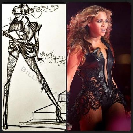Celeb Style: Beyonce in @RubinSinger at the SuperBowl Pepsi...
