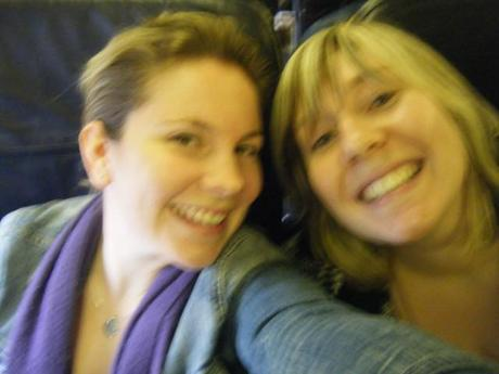Kristy and I en route to Dublin
