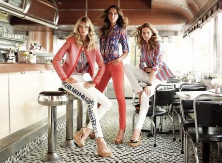 Julia Stegner, Elise Crombez and Noemie Lenoir for Jones New York Spring 2013 Campaign by Mark Seliger