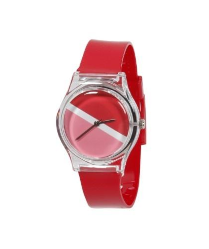 pink and red watch