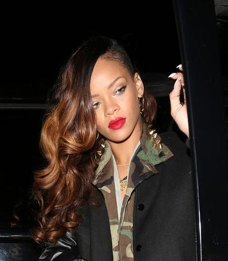 Rihanna arriving at Greystone Manor nightclub with friends in...