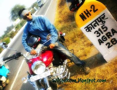A Peachy Weekend Bike Ride to Agra