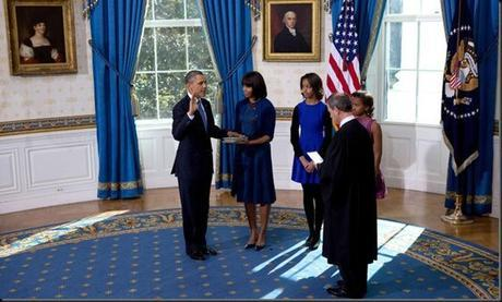 Taking the oath of office