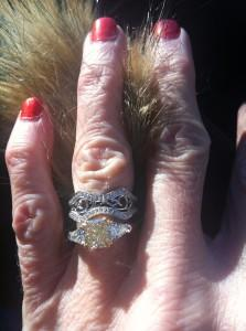 Custom Engagement Ring and Wedding Band