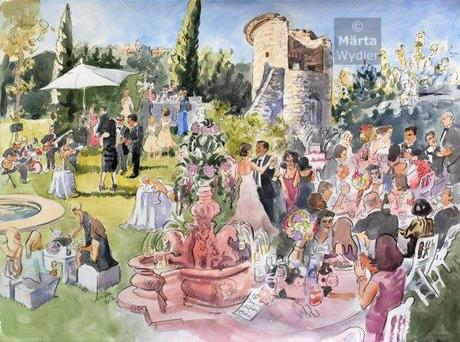 Make the most of your French wedding scenery… have a live painter!