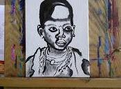 Acrylic Portrait Step African Child