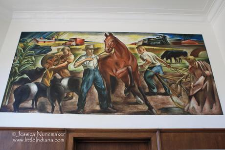 Cambridge City, Indiana Post Office New Deal WPA Art