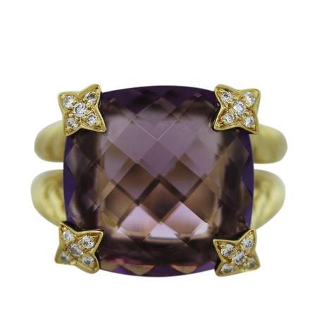 David Yurman Amethyst Quatrefoil Cushion Ring, david yurman amethyst ring