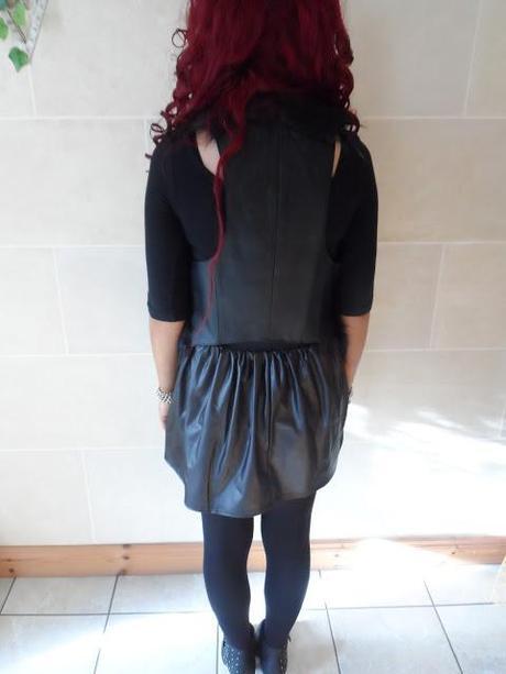OOTD - Black leather and fur