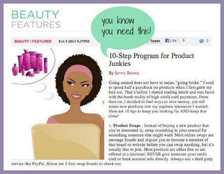savvy brown, carol's daughter, transitioning movement, 10 step program, product junkies, naturalhair