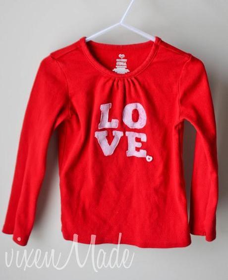 Valentine's Day Appliqued Shirt