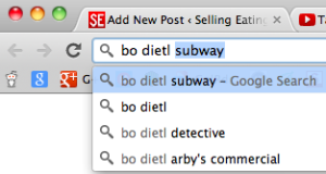 Uh oh, Arby's. Google thinks Bo Dietl is a Subway ad representative, it seems.