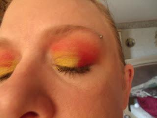 Kansas city Chiefs inspired eyelook